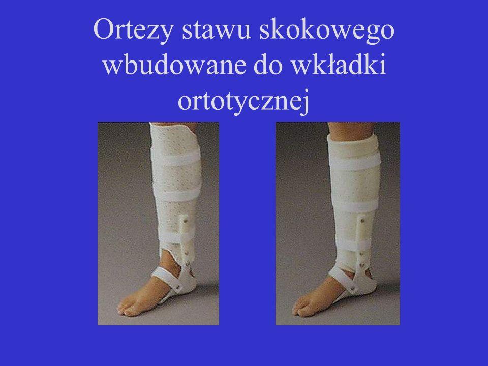 Ortezy stawu skokowego wbudowane do wkładki ortotycznej