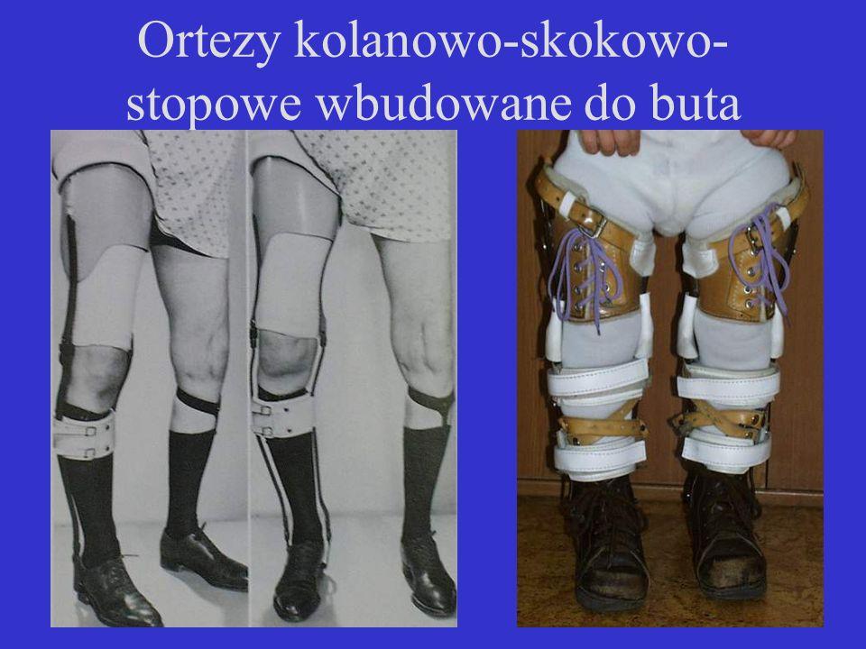 Ortezy kolanowo-skokowo- stopowe wbudowane do buta