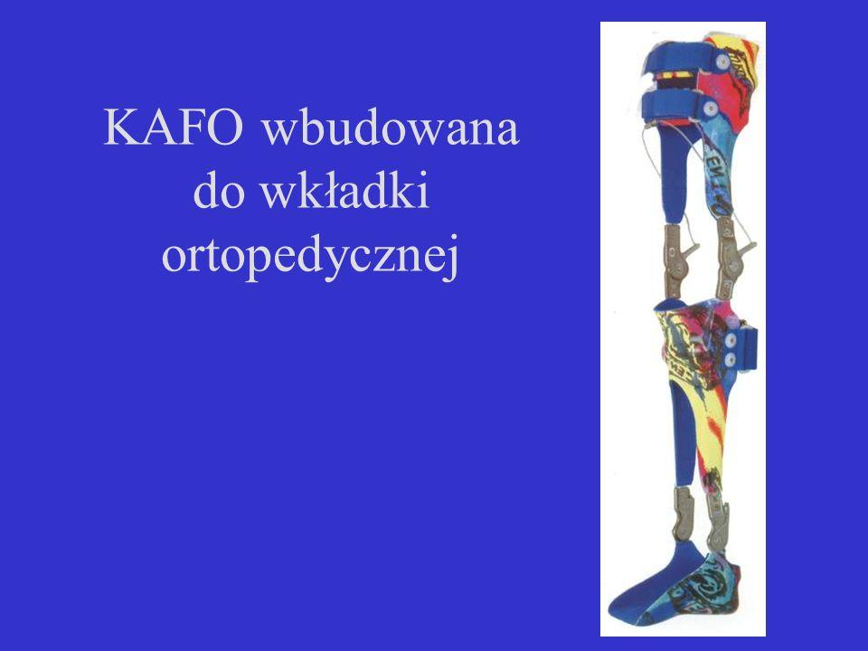 KAFO wbudowana do wkładki ortopedycznej