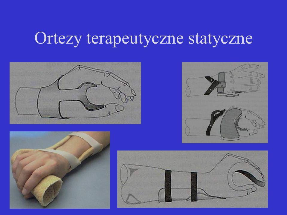 Ortezy terapeutyczne statyczne