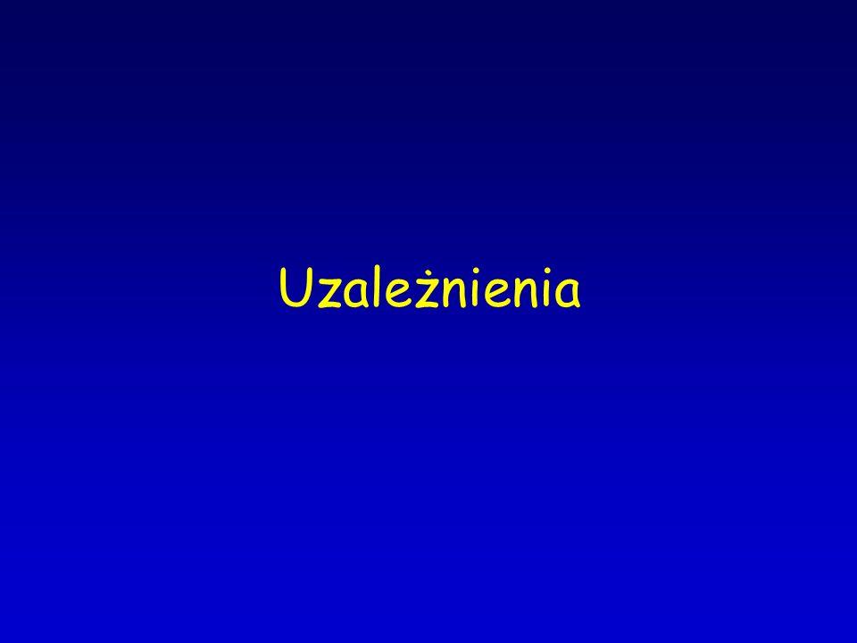 Depresja Przyczyny somatyczne: –choroby metaboliczne i zwyrodnieniowe –niewydolność krążenia –niewydolność oddechowa –choroby nerek i wątroby –cukrzyca –guz mózgu –niedokrwistość