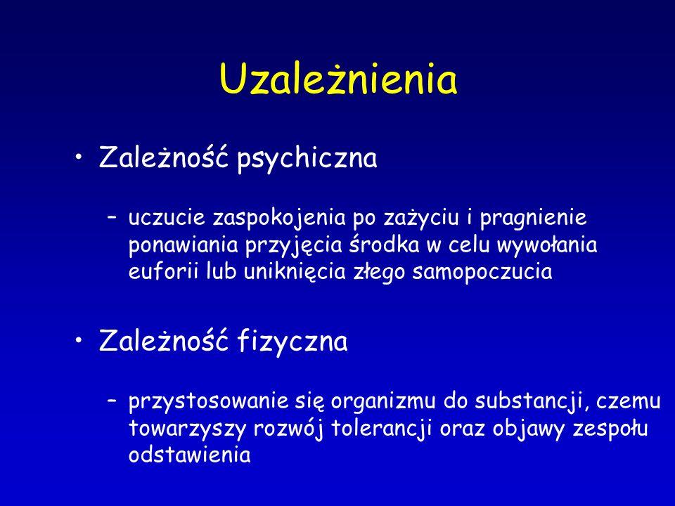 Ecstasy Negatywne efekty działania –napięcie emocjonalne –depersonalizacja –panika –nadwrażliwość na bodźce z zewnątrz –poczucie utraty kontroli –nieprzyjemne halucynacje i depresja