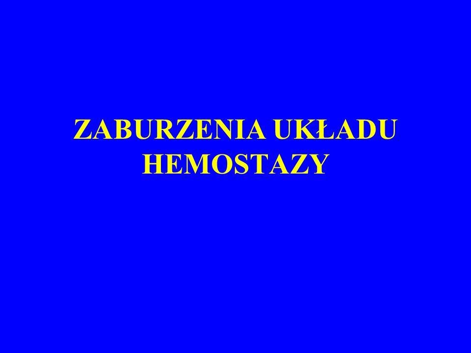 ELEMENTY HEMOSTAZY Ściana naczyń krwionośnych –Śródbłonek: m.in.