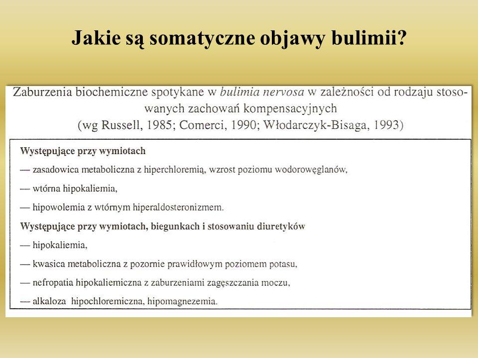 Jakie są somatyczne objawy bulimii?