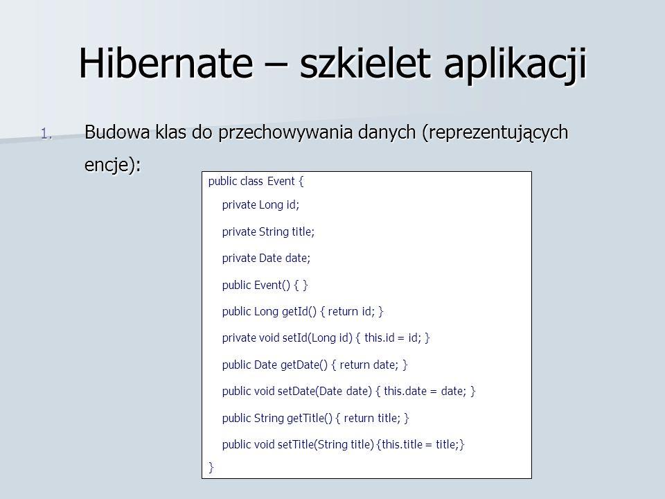 Hibernate – szkielet aplikacji 1.
