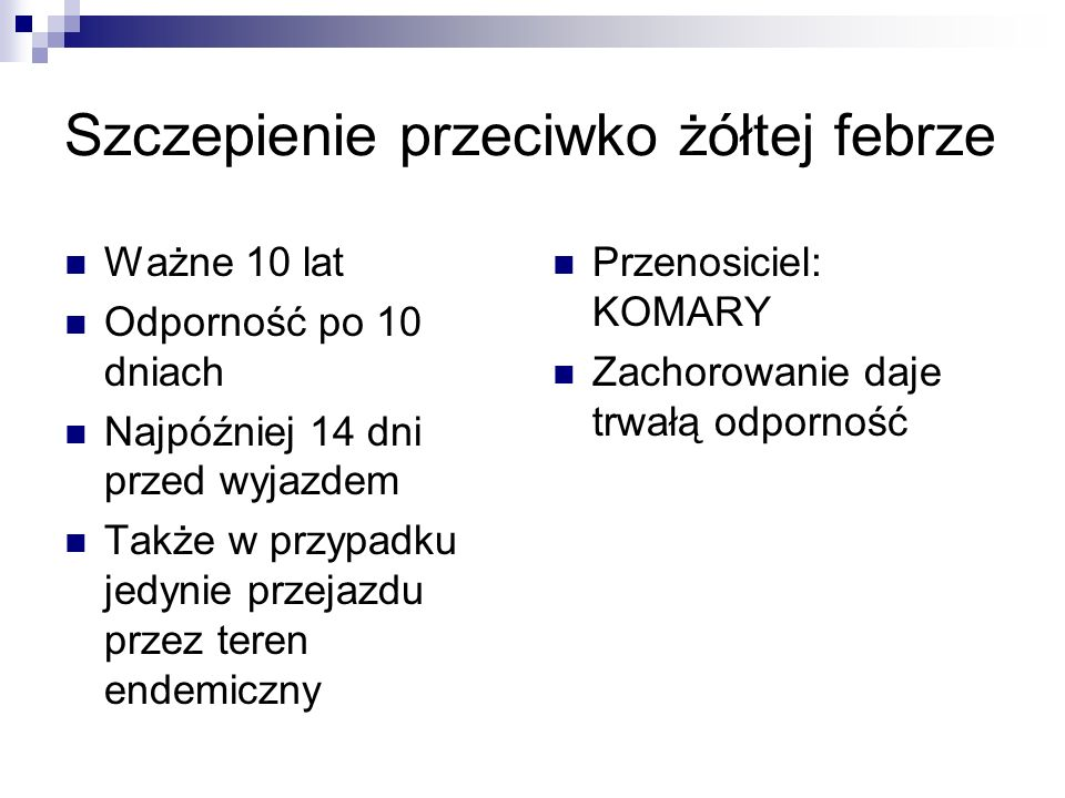 117 przypadków żółtej gorączki w 2005r.