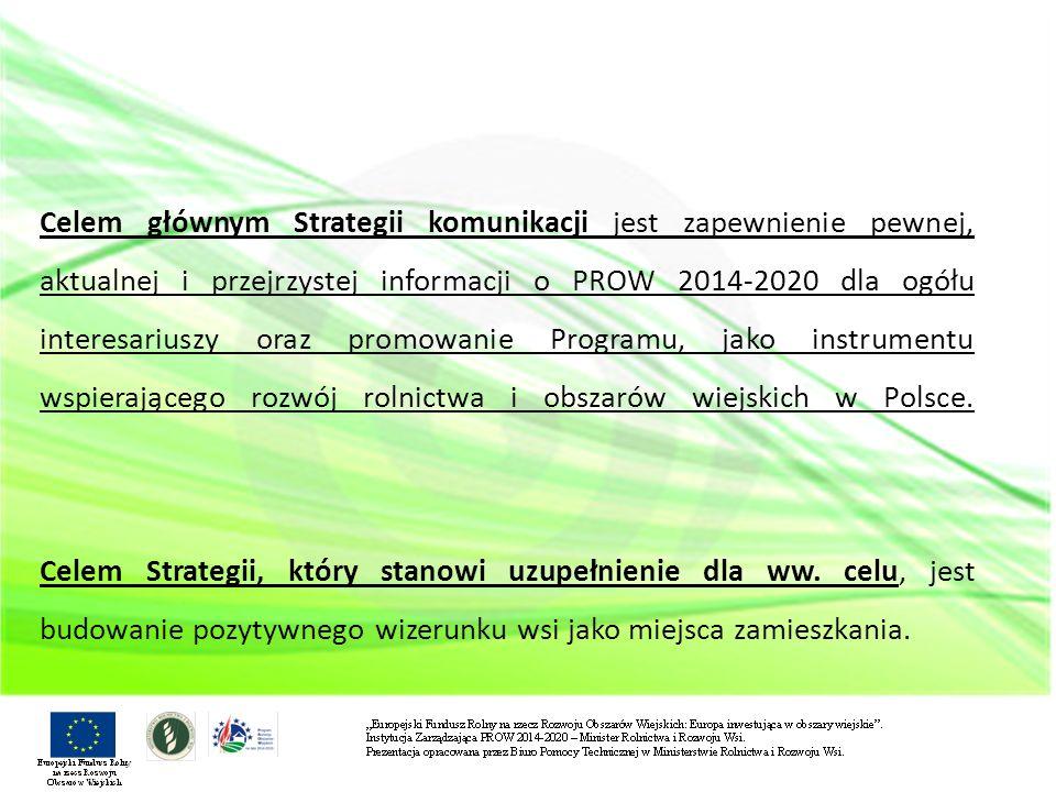 Realnym efektem realizacji głównego celu strategii ma być stworzenie korzystnej atmosfery społecznej dla wdrażania PROW 2014-2020 i popularyzacja modeli wielofunkcyjności obszarów wiejskich.