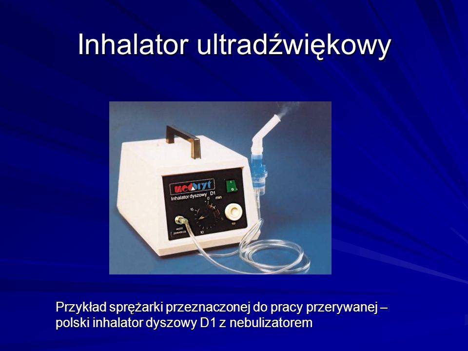 Inhalator ultradźwiękowy Przykład sprężarki przeznaczonej do pracy przerywanej – polski inhalator dyszowy D1 z nebulizatorem