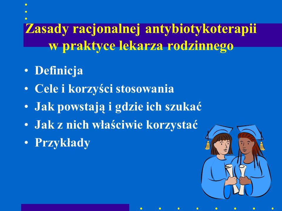 Zasady racjonalnej antybiotykoterapii w zapaleniach gardła (6) Leczenie: –I rzut : PENICYLINA - 10 dni –Alternatywnie: cefadroksyl (cefalosporyna II generacji) –II rzut: CEFALOSPORYNY II generacja) PENICYLINY Z INHIBITORAMI BETALAKTAMAZ MAKROLIDY Nawracające zakażenia: klindamycyna