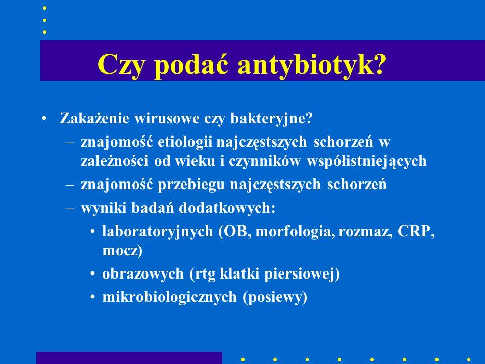Racjonalna antybiotykoterapia racjonalna antybiotykoterapia = prawidłowe stosowanie właściwych leków w uzasadnionych przypadkach klinicznych