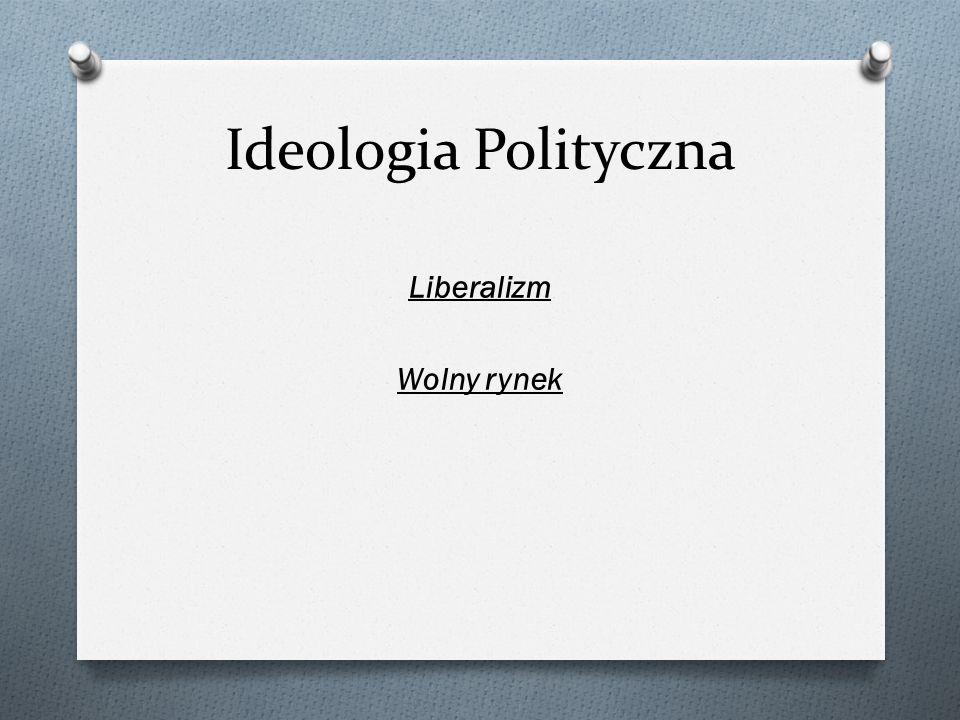 Ideologia Polityczna Liberalizm Wolny rynek