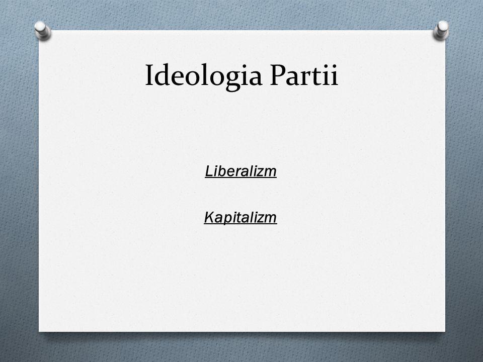 Ideologia Partii Liberalizm Kapitalizm
