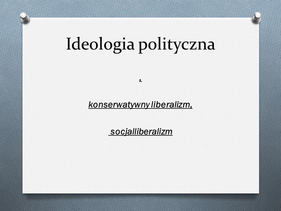 Ideologia polityczna, konserwatywny liberalizm, socjalliberalizm