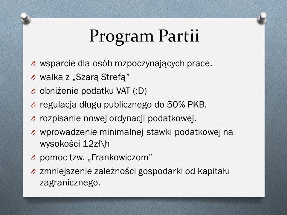 Program Partii O wsparcie dla osób rozpoczynających prace.