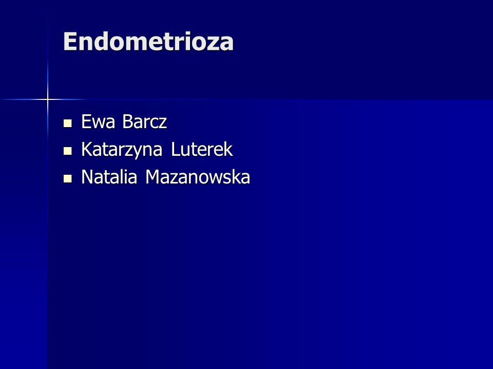 Endometrioza jajnikowa Endometrioza powierzchniowa Endometrioza powierzchniowa endometrioza głęboka endometrioza głęboka – torbiele endometrioidalne – endometrioza naciekająca