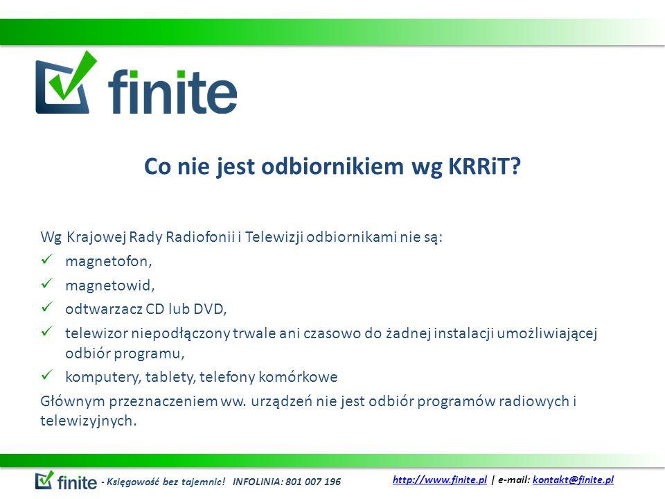 Co nie jest odbiornikiem wg KRRiT.