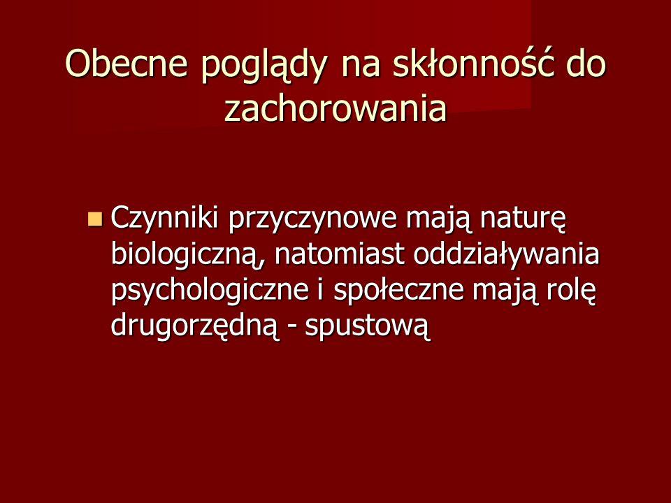Postaci schizofrenii ICD-10 F20.X Paranoidalna Paranoidalna Hebefreniczna Hebefreniczna Katatoniczna Katatoniczna Niezróżnicowana Niezróżnicowana Depresja poschizofreniczna Depresja poschizofreniczna Rezydualna Rezydualna Prosta Prosta