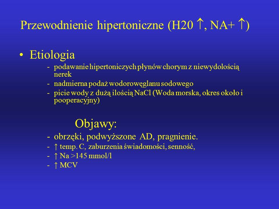 Leczenie: -ograniczenie dostarczenia wody i sodu -wymuszenie diurezy. -leczenie choroby podstawowej.