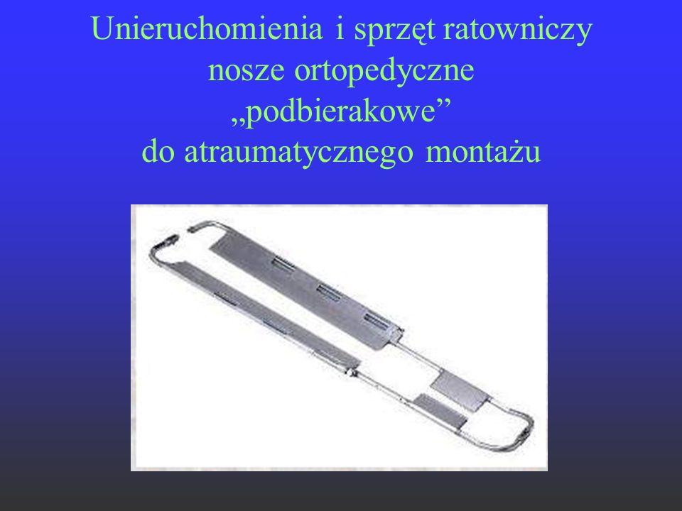 """Unieruchomienia i sprzęt ratowniczy nosze ortopedyczne """"podbierakowe"""" do atraumatycznego montażu"""