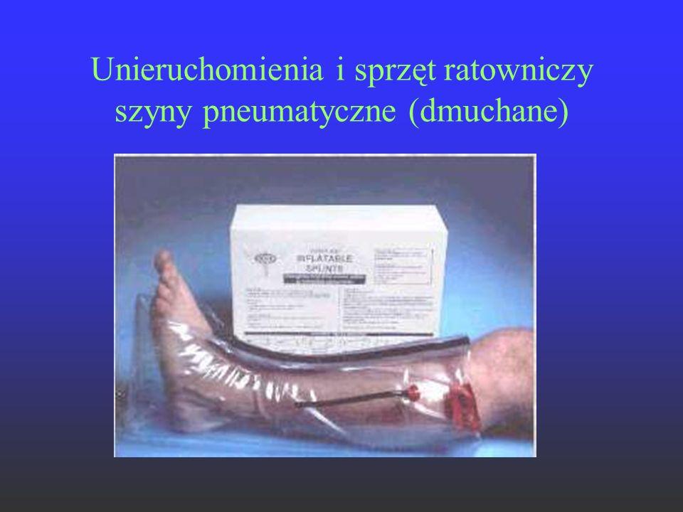 Unieruchomienia i sprzęt ratowniczy szyny pneumatyczne (dmuchane)