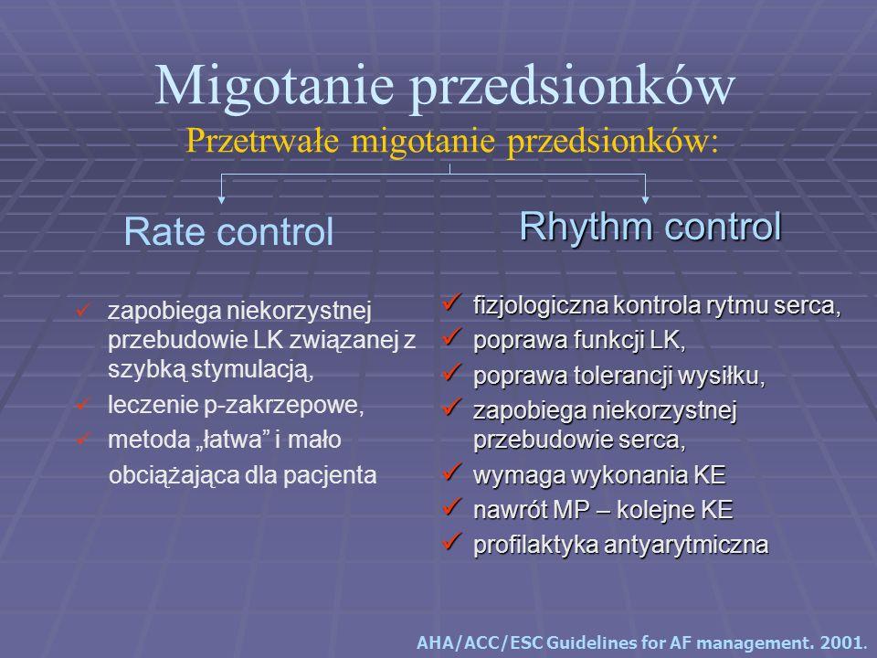 Rhythm control fizjologiczna kontrola rytmu serca, fizjologiczna kontrola rytmu serca, poprawa funkcji LK, poprawa funkcji LK, poprawa tolerancji wysi