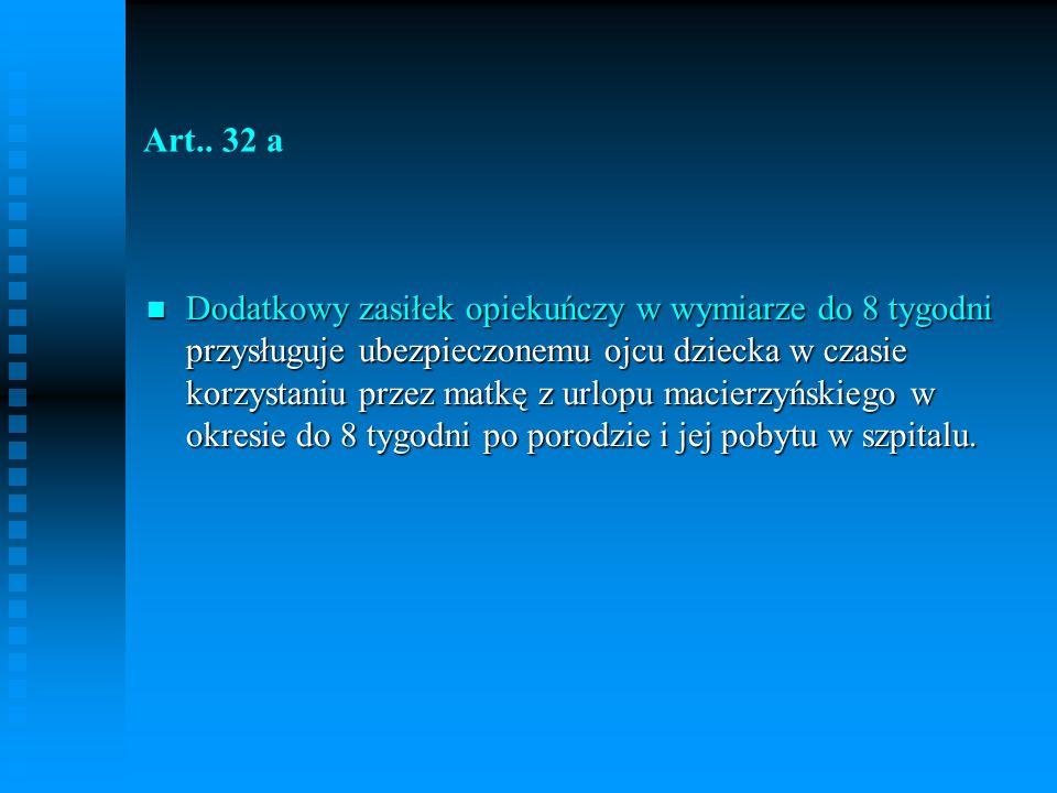 ZASIŁEK WYRÓWNAWCZY Art..
