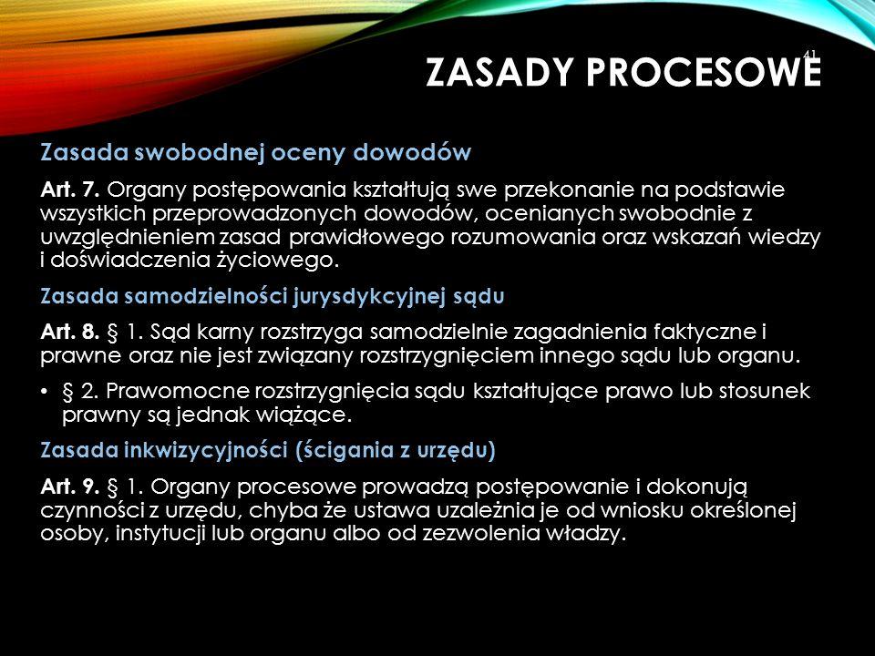 Zasada swobodnej oceny dowodów Art. 7. Organy postępowania kształtują swe przekonanie na podstawie wszystkich przeprowadzonych dowodów, ocenianych swo