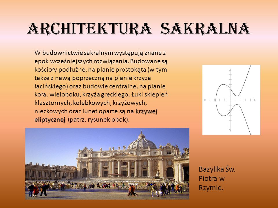W Polsce… Kościół Świętych Apostołów Piotra i Pawła w Krakowie, fasada zaprojektowana przez Giovanniego Trevano W Polsce, podobnie jak w innych krajach europejskich, barok przypada na czas kontrreformacji i długoletnich wojen.