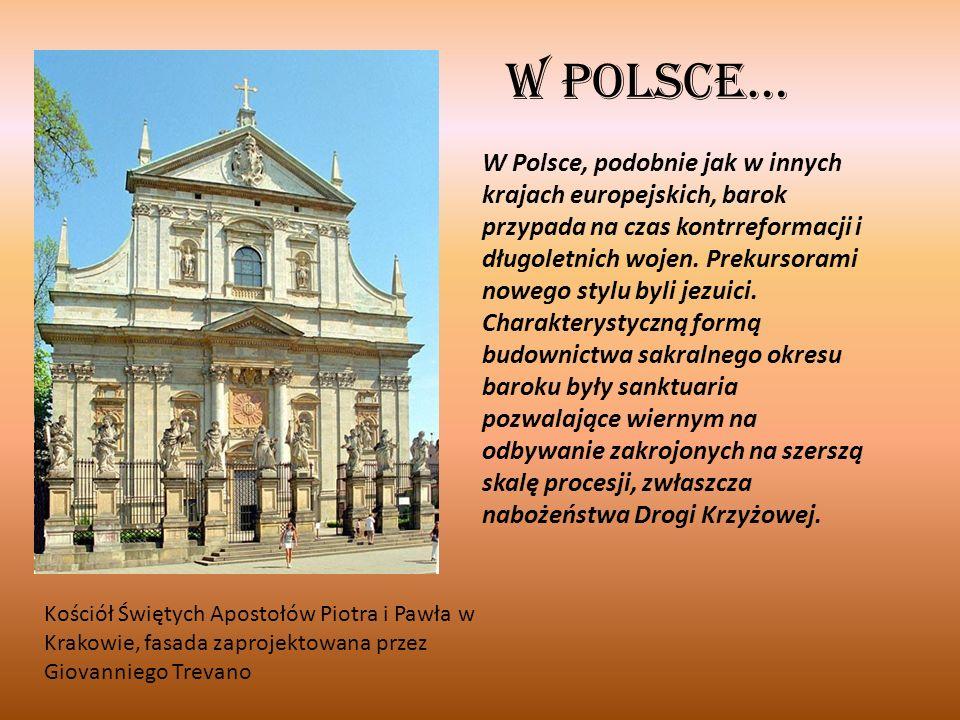 Architektura swiecka, Budowle świeckie to przede wszystkim reprezentacyjne pałace rozbudowane horyzontalnie, często z bocznymi skrzydłami tworzą plan w kształcie litery U.