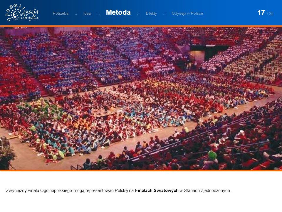 Zwycięzcy Finału Ogólnopolskiego mogą reprezentować Polskę na Finałach Światowych w Stanach Zjednoczonych. Potrzeba :: Idea :: Metoda :: Efekty :: Ody
