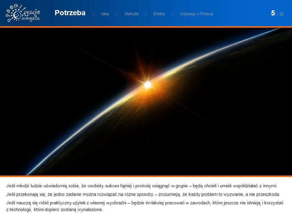 Odyseja Umysłu obecna jest w Polsce od ponad 20 lat.