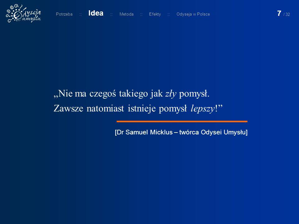 Odyseja Umysłu jest w naszym kraju realizowana pod auspicjami fundacji Odyssey of the Mind Polska.