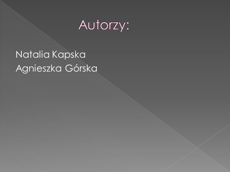 Natalia Kapska Agnieszka Górska