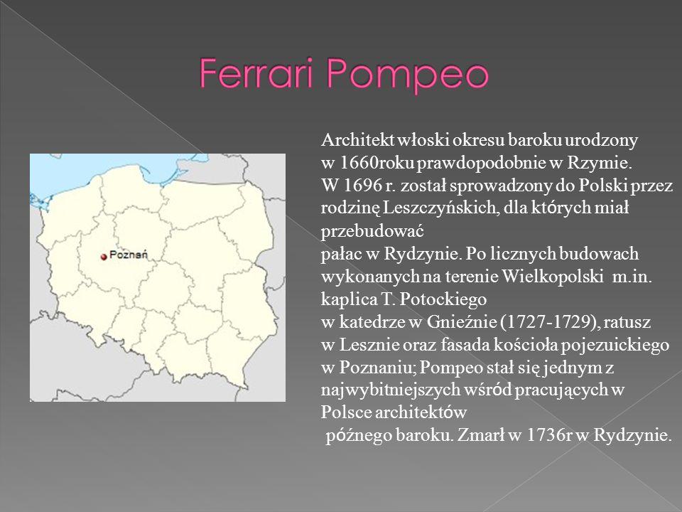 Architekt włoski okresu baroku urodzony w 1660roku prawdopodobnie w Rzymie. W 1696 r. został sprowadzony do Polski przez rodzinę Leszczyńskich, dla kt