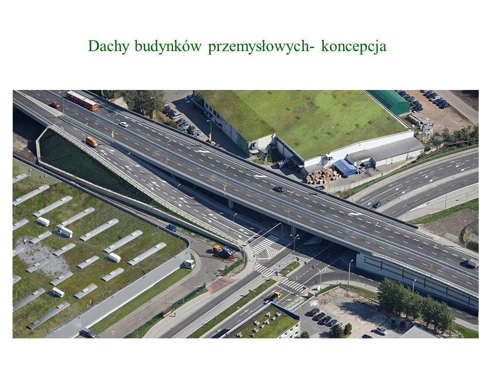 Dachy budynków przemysłowych- koncepcja