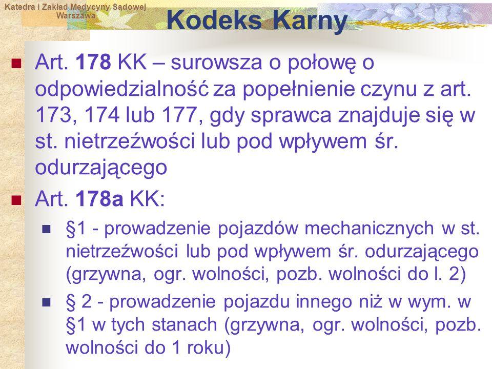 Katedra i Zakład Medycyny Sądowej Warszawa Warszawa Kodeks Karny Art.