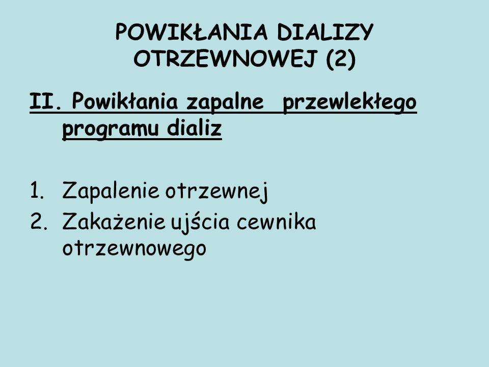 POWIKŁANIA DIALIZY OTRZEWNOWEJ (2) II.