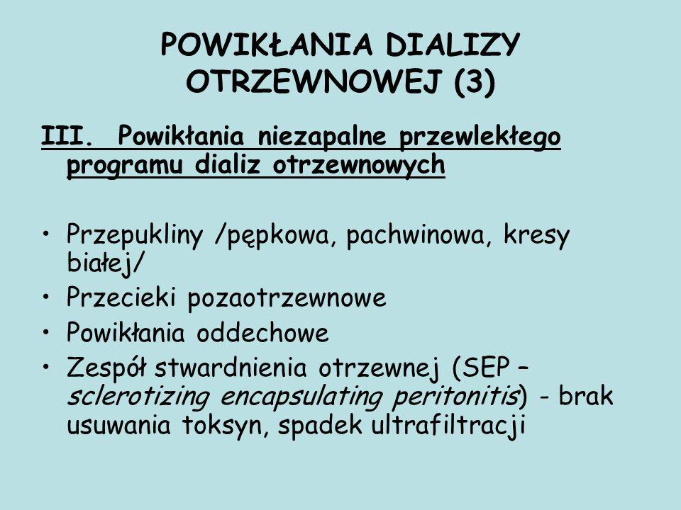 POWIKŁANIA DIALIZY OTRZEWNOWEJ (3) III.