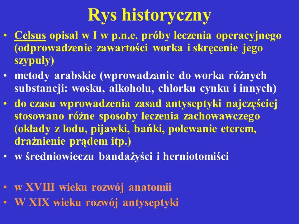 Etiologia przepuklin Wrodzona - niedokonane zamknięcie w życiu płodowym otworów w ścianie jamy brzusznej np.