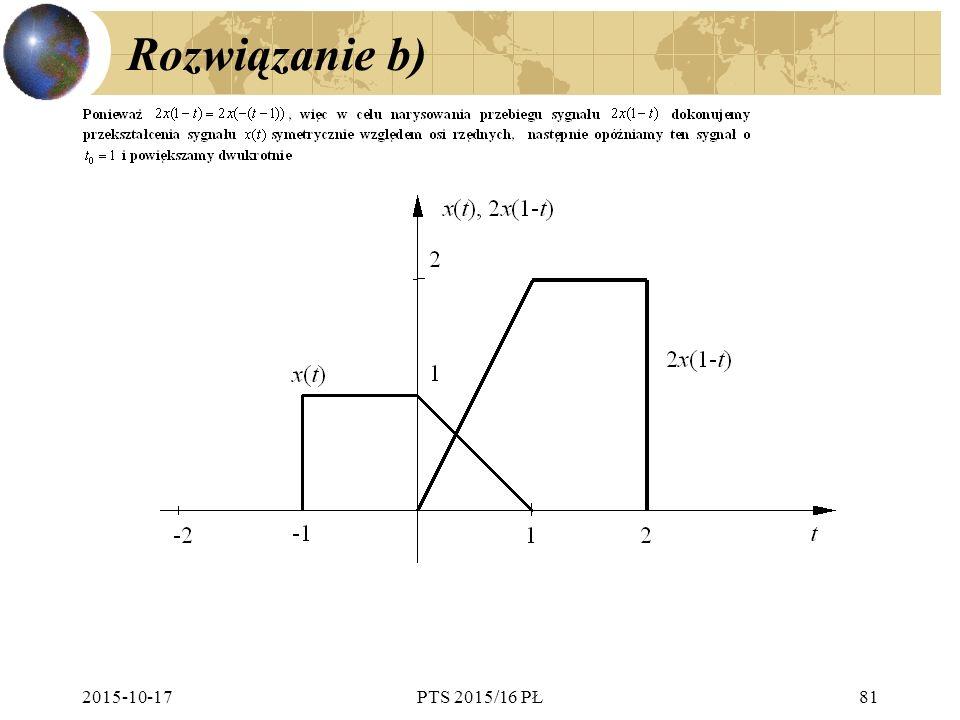 Rozwiązanie b) 2015-10-17PTS 2015/16 PŁ81