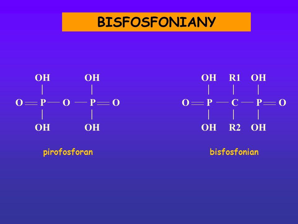 OH OOOOCPPPP R1 R2 O bisfosfonian pirofosforan BISFOSFONIANY