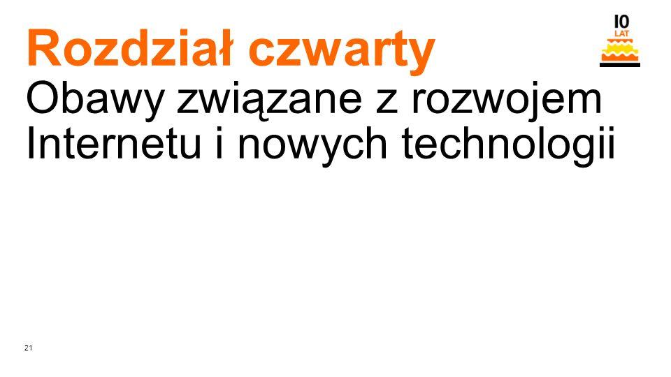 21 Orange Restricted Rozdział czwarty Obawy związane z rozwojem Internetu i nowych technologii