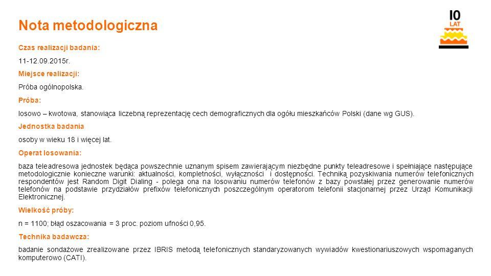 28 Orange Restricted Nota metodologiczna Czas realizacji badania: 11-12.09.2015r.