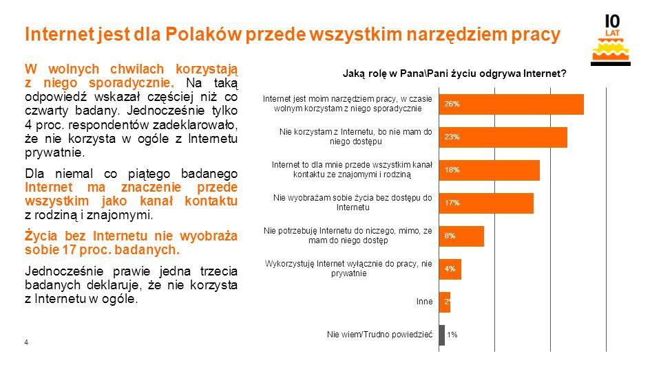 4 Orange Restricted Internet jest dla Polaków przede wszystkim narzędziem pracy W wolnych chwilach korzystają z niego sporadycznie.