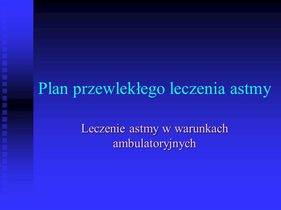 Plan przewlekłego leczenia astmy Leczenie astmy w warunkach ambulatoryjnych