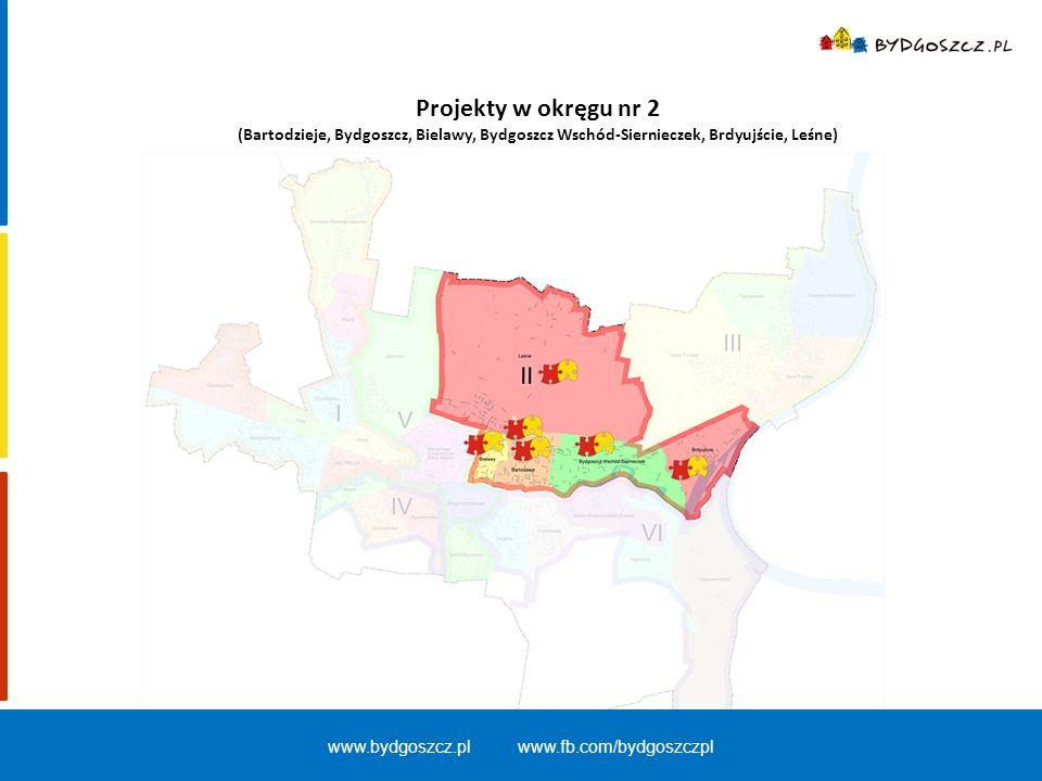 Projekty w okręgu nr 2 (Bartodzieje, Bydgoszcz, Bielawy, Bydgoszcz Wschód-Siernieczek, Brdyujście, Leśne) www.bydgoszcz.pl www.fb.com/bydgoszczpl