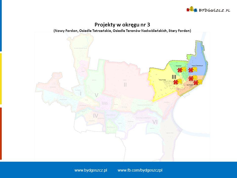 Projekty w okręgu nr 3 (Nowy Fordon, Osiedle Tatrzańskie, Osiedle Terenów Nadwiślańskich, Stary Fordon) www.bydgoszcz.pl www.fb.com/bydgoszczpl