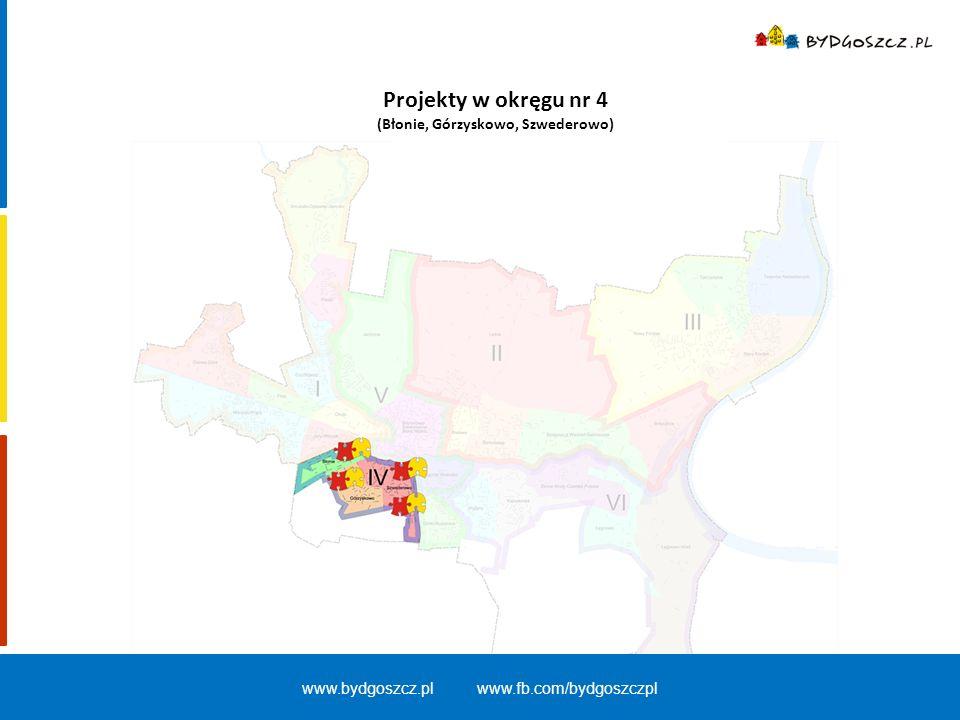 Projekty w okręgu nr 4 (Błonie, Górzyskowo, Szwederowo) www.bydgoszcz.pl www.fb.com/bydgoszczpl