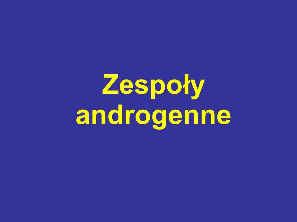 CELE LECZENIA (↓ objawów androgenizacji) zahamowanie syntezy i wydzielania androgenów przez nadnercza lub jajniki zwiększenie stopnia wiązania androgenów z białkami krwi zahamowanie obwodowej przemiany prekursorów androgenów w aktywne metabolity zmniejszenie oddziaływania androgenów na tkanki docelowe