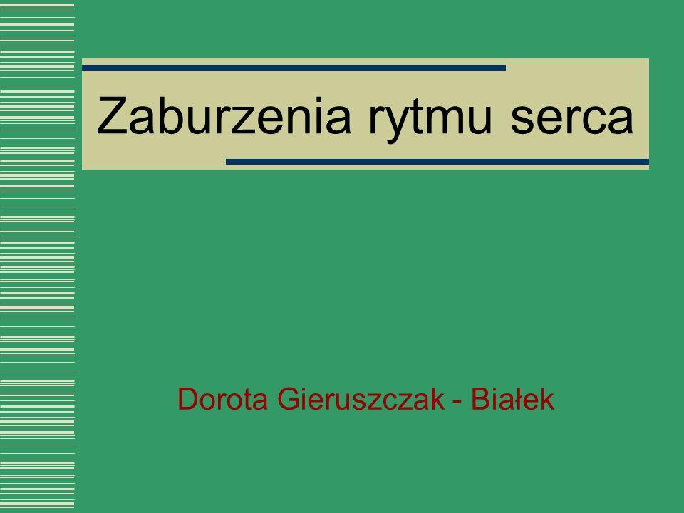 Zaburzenia rytmu serca Dorota Gieruszczak - Białek